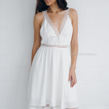 sharon dress - ivory