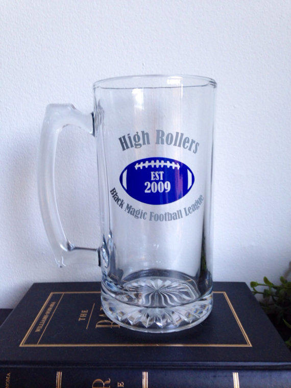 Personalized Fantasy Football Team Beer From Simplyglassic On