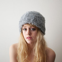 Vintage Faux Fur Hat (Chinchilla)