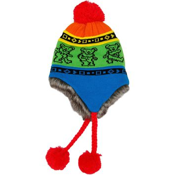 Grateful Dead Men's Dancing Bears Beanie Multi