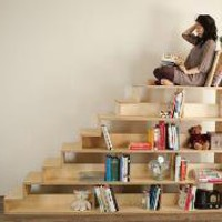 Birch stair bookcase