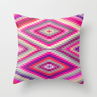 kilimi purple Throw Pillow by holli zollinger
