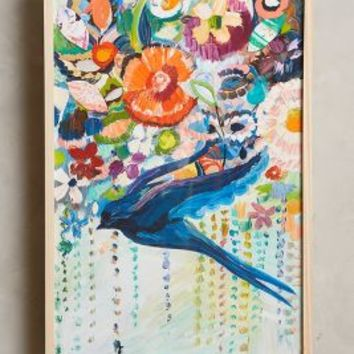 Starla Michelle Halfmann Mooreland Wall Art, Free Bird in Turquoise Size: One Size Decor