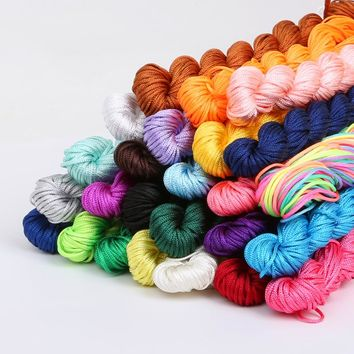 24 Meters/lot Chinese Knot Macrame String Bracelet Wire Cord Thread 1mm Dia, For DIY Necklace Bracelet Braided String