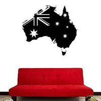 Wall Stickers Vinyl Decal Australia Australian Flag For Living Room Unique Gift (z1829)