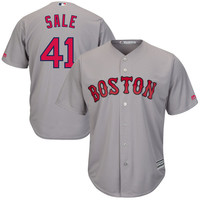 Chris Sale Boston Red Sox Majestic Road Cool Base Jersey - Gray