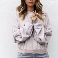 Far From You Taupe French Terry Pullover