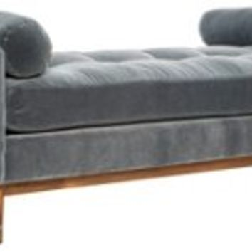 Fontaine Tufted Daybed, Cloud Gray, Daybeds