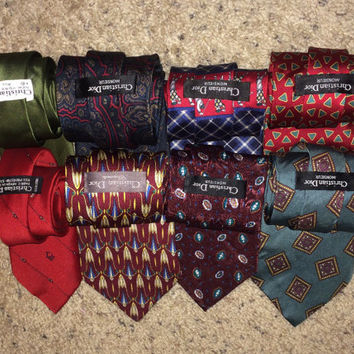 Sale!! Lot of 8 - CHRISTIAN DIOR neckties mens designer ties
