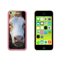 Brown and White Cow Case for Apple iPhone 5C