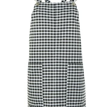 PETITE Gingham Pinafore Dress - Dresses - Clothing