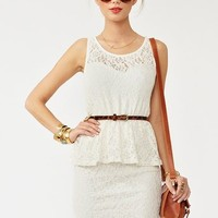 Lace Peplum Dress in  What's New at Nasty Gal