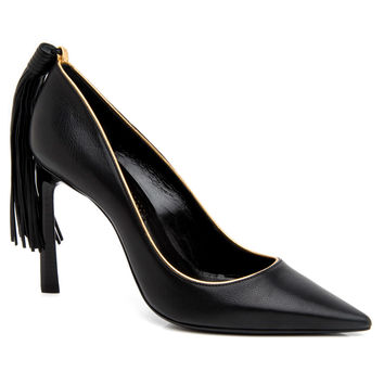 Lanvin Black Tassel Pump