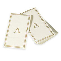 Monogram Disposable Guest Towels - A