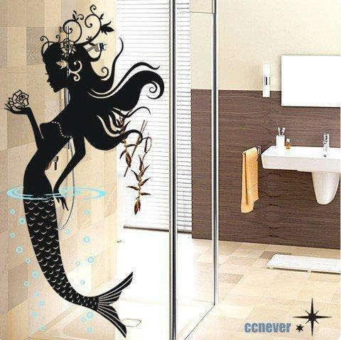 mermaid floral bedroomRemovable Graphic Art wall decals by ccnever