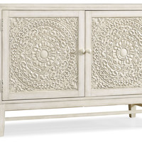 Hooker Furniture, Matisette 2-Door  Carved Cabinet, White, Cabinets & Hutches