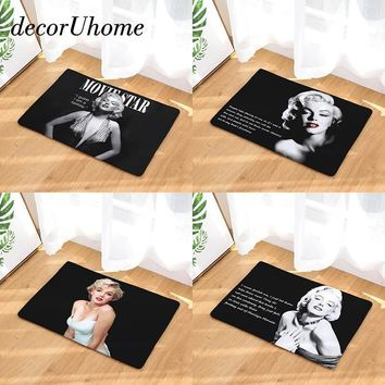 decorUhome Entrance Waterproof Door Mat Marilyn Monroe Kitchen Rugs Bedroom Carpets Decorative Stair Mats Home Decor Crafts