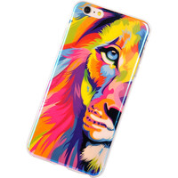 TPU Cases for iPhone 6 New Arrival For Apple iPhone 6 Plus Case IMD Lions Tigers Blu-ray Silicon Design 5.5inch Phone capa Cover