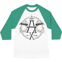 Avenged Sevenfold Men's  AVS St Pat Hail To King Mens 3/4 Slv Baseball Jersey Kelly Green