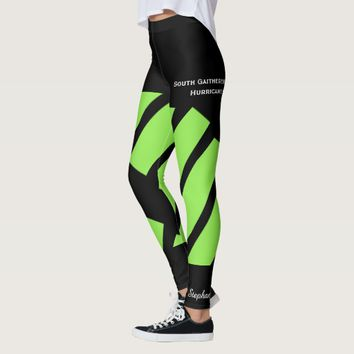 Neon Green Team/Club Leggings with Fake Shorts