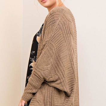 Cozy Dolman Knit Cardigan | Colors | Plus