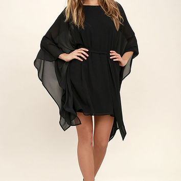 Heavenly Being Black Kaftan Dress