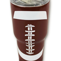 Football Tumbler 30 OZ Stainless Steel Hot Cold Tumblers Gifts Mom Fathers