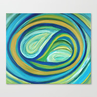 Yin & Yang | Abstract Oil Painting Canvas Print by mariameesterart