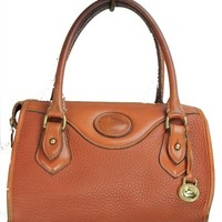 Vintage Dooney & Bourke brown pebble leather handbag
