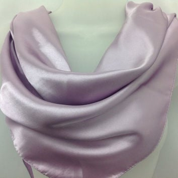 Swimming hip scarf Purple Silk Shawl, Gift for coworker, Neckerchief scarf, Graduation Gift for mother Lavender Satin scarf