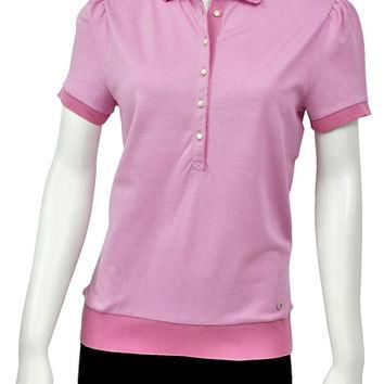 Salvatore Ferragamo Pink Button Up Polo Shirt 11-8546PK Large
