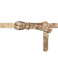Gold glitter skinny belt - Belts - Accessories - Dorothy Perkins