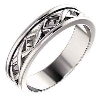 Matthew X-Pattern Wedding Band