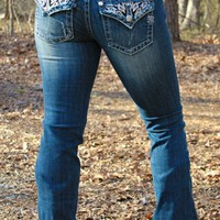 Miss Me Stitched Studded Jeans
