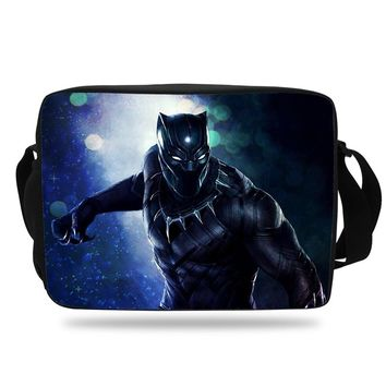 bcf5067a89 New FashionThe Avengers Black Panther Printed School Shoulder Me. Item  Type  Handbags Lining Material  Polyester Handbags Type  Messenger Bags ...