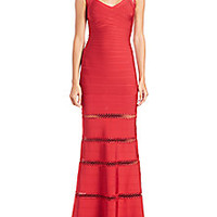 Herve Leger - Braided-Inset Bandage Gown - Saks Fifth Avenue Mobile