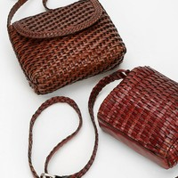 Urban Renewal Vintage Woven Leather Bag - Urban Outfitters