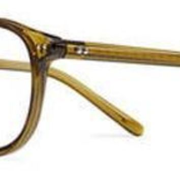 Safilo - Cerchio 02 Olive Green Mustard Eyeglasses / Demo Lenses