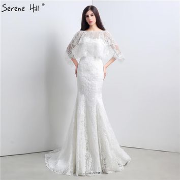 2017 White Sexy Lace Mermaid Wedding Dresses Real Photo Fasion Elegant Bridal Wedding Gown Robe De Mariee