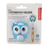 FOREVER 21 Owl Toothbrush Holder Blue/White One