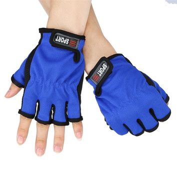 Fish gloves outdoor camping Fsihing accessories Fingerless Exposed Men&Women Breathable Fishing Glove Anti Slip 5 Cut Gloves