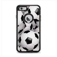 The Soccer Ball Overlay Apple iPhone 6 Plus Otterbox Defender Case Skin Set