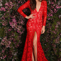 Moscow Lace Dress Red
