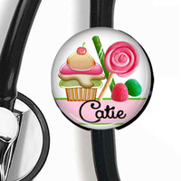 Stethoscope ID Tag And ID Badge Reel, Retractable Badge Holder, ID Badge Holder Combo Candy