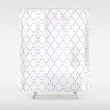 Shower Curtain - Lavender Shower Curtain - Quatrefoil - Dorm Decor - Teen Shower Curtain - Girls Shower Curtain - Purple Shower Curtain