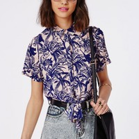 Missguided - Hawaiian Crop Shirt