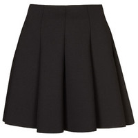 PETITE EXCLUSIVE Flippy Scuba Skirt - Black