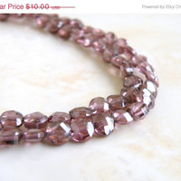 51% OFF Cubic Zirconia CZ Plum Rhodolite Garnet Faceted Round Coin Briolette Center Drilled 5mm 1/2 Strand 19 beads