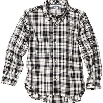 Hartstrings Boys 8-20 Big Plaid Long Sleeve Button Front Shirt