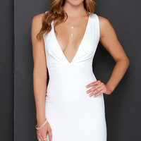 Take Me on Ivory Bodycon Midi Dress